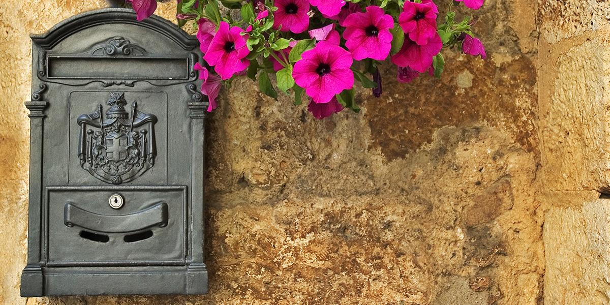 ロートアイアン,郵便ポスト,郵便箱,メールボックス